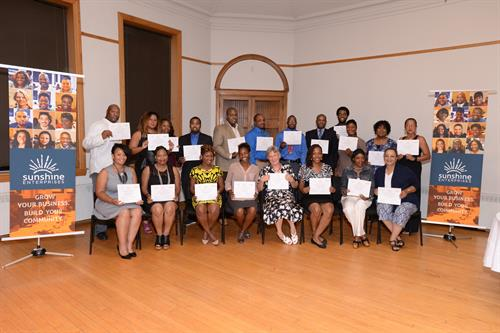 August 2016 graduation of Community Business Academy.