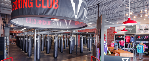 Interior of TITLE Boxing Club