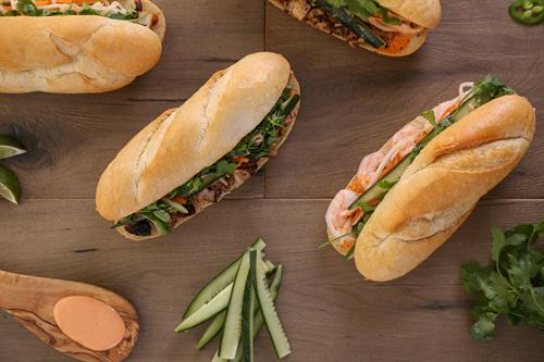 Banh mi spread of all varieties.