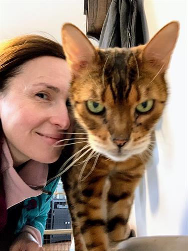 Loving cat care.