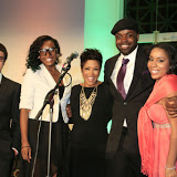 Val Warner Hosts YJC annual gala at Soldier Field.  Seen here with YJC client speakers.