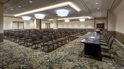 Meet:  With 6,000 square feet of exceptional event space the hotel is suited to host meeting for 3 guests to 400 guests