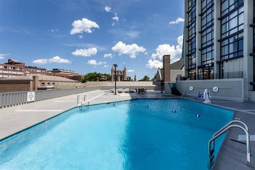 Unwind:  In the hotel's seasonal outdoor pool open Memorial Day to Labor Day