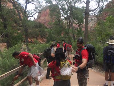 Cleaning Zion National Park
