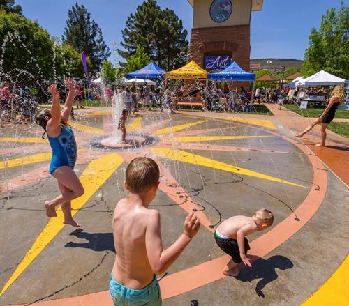 Historic Town Square splash pad