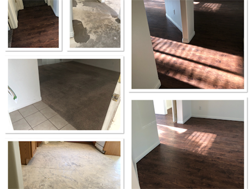 Waterproof, glue down vinyl planking. This combination of vinyl in the main areas and carpet in the bedrooms, make for a great rental! Looking for ways to create a good living experience, call me 4357678564 #vinylflooring #waterproof #remodeling #remodelstgeorge #theflooringstudio #heidiberlinflooring #stgeorgeflooring #stgeorgeutah #lvp #carpet #outwiththeoldinwiththenew http://stgeorgeflooring.com