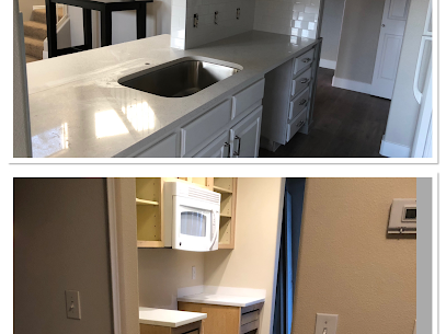 This client uses this condo as a second home, they wanted to update and make it feel bigger and lighter, we were able to make the bar bigger, add wainscoting to have the bar area as part of the kitchen, all new laminate, and tile in bathrooms, new baseboards, and a fresh coat of paint. The project turned out perfect!!!