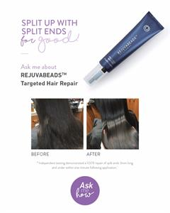 Why cut it off when you can repair it? Independent testing has demonstrated a 100% repair of split ends 3mm long and under within one minute following application. Hair is left stronger, more flexible, manageable and resilient. Keep in your beauty arsenal! #splitends
