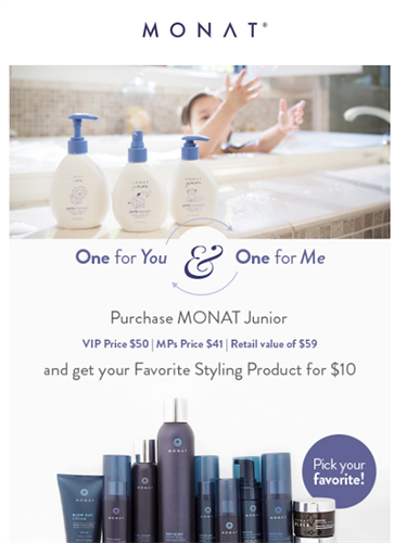 02/02/18 Weekend Flash Sale! Junior Line $50 and a $10 Styling Product for mom!