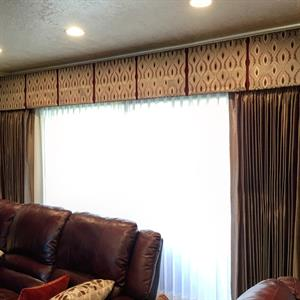 Box pleated valances & draperies