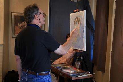 John Michael Carter demonstrating during the OPA  Western Exhibition