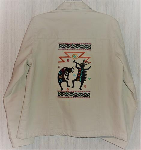 Embroidered Dri Duck jacket.
