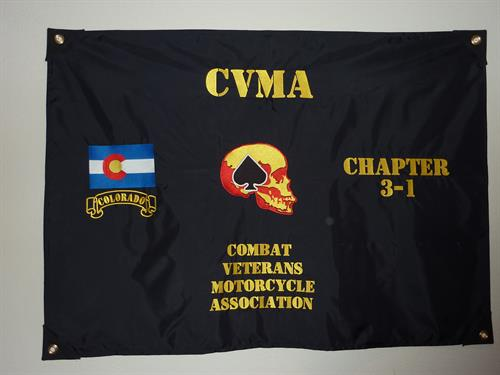 Custom 3' X 5' flag, fully embroidered on both sides.