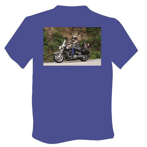 Custom printed photo t-shirt.  Over 60 shirt colors available.
