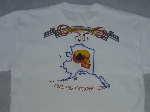 Custom printed t-shirt, fund raiser for an organization.