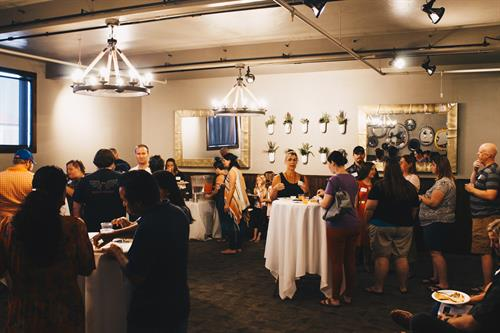an event we hosted at another local business, Cafe Sabor