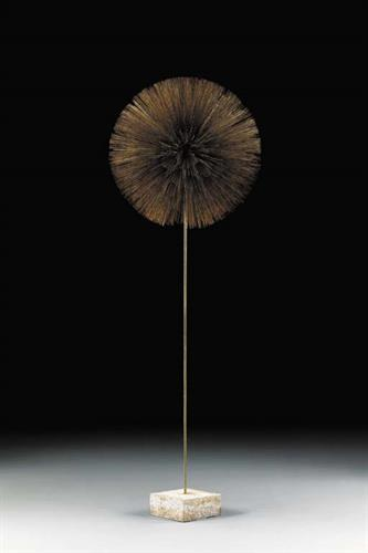 "Gilt dandelion 76"" 1967, sculpture by Harry Bertoia"