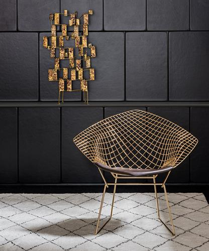 Bertoia Diamond Chair for Knoll, created 1952, still in production 2019