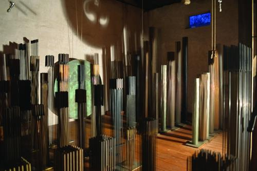 Sonambient Barn collection, 90 sounding sculptures by Harry Bertoia