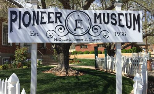 Pioneer Museum Sign