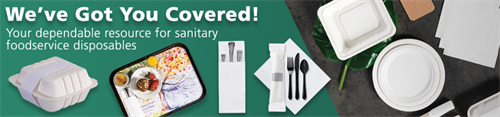 Now stocking a wide selection of food service disposable products