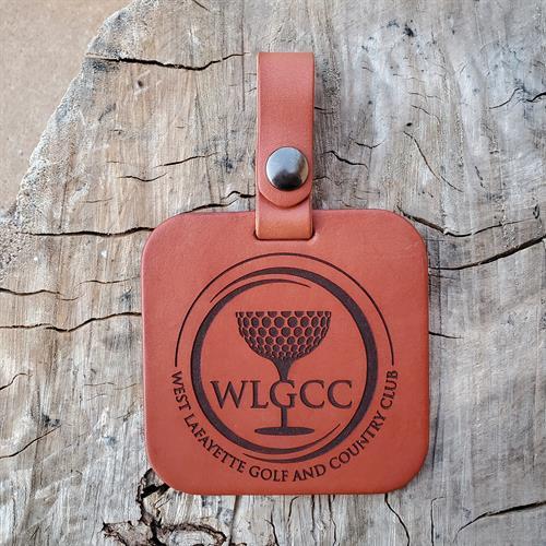 Leather Golf Bag Tag