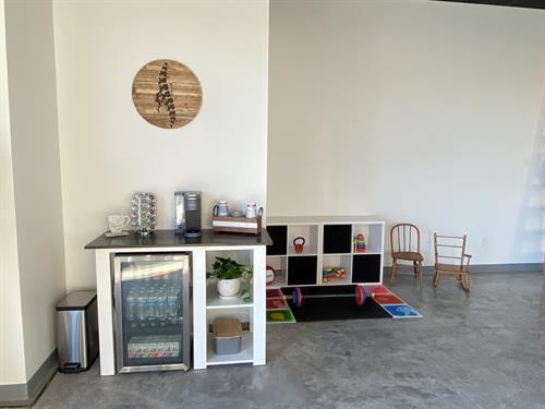 Coffee Bar and Kids Area