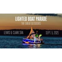 Lighted Boat Parade at Lewis and Clark SRA