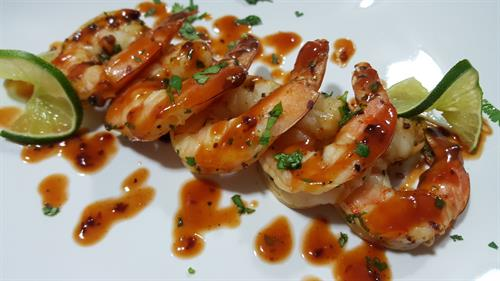 Smoked Shrimp Cocktail w/ Orange Chipotle Sauce