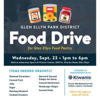 Glen Ellyn Park District Food Drive for the Glen Ellyn Food Pantry