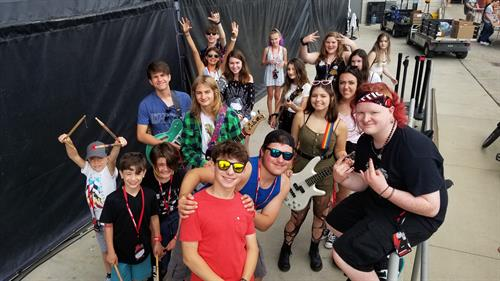 School of Rock Glen Ellyn students performing at Summerfest in Milwaukee