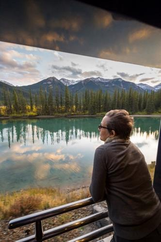 Observation Area on Rocky Mountaineer Train