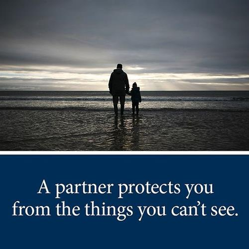 A partner protects you from the things you can't see