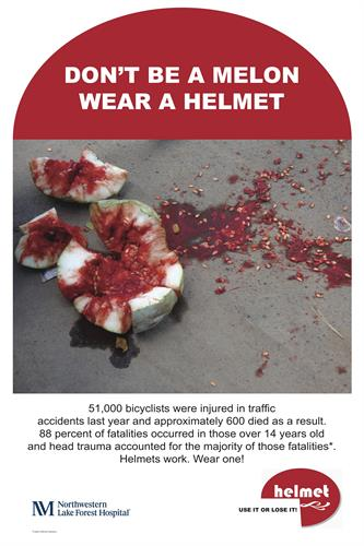 Helmet. Bike helmet awareness