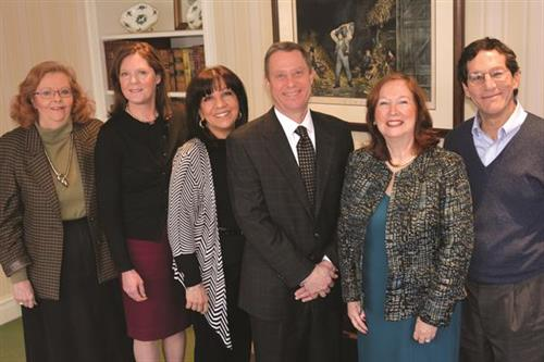 Chamber of Commerce officers are (from left to right): Deborah Fischer, Irene Ratliff, Joanna Rolek, Steve Milota, Deborah Haddad and Steve Ballen.