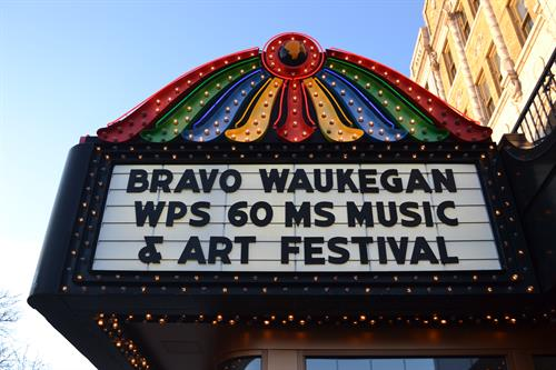 Bravo sponsors Waukegan's Middle School Music Festival each year at the Genesee Theater, over 1,000 students perform over the course of two nights in band, orchestra & choir performances.