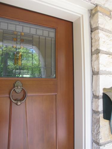Custom Finished Entry Door & Restored Jamb