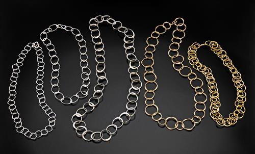 Hand Forged Chain in sterling and Gold filled,: length & styles by order