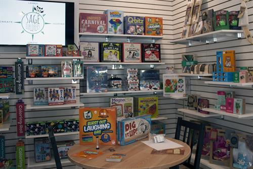We proudly carry hand selected games, toys and puzzles that are high-quality - most are award winners!