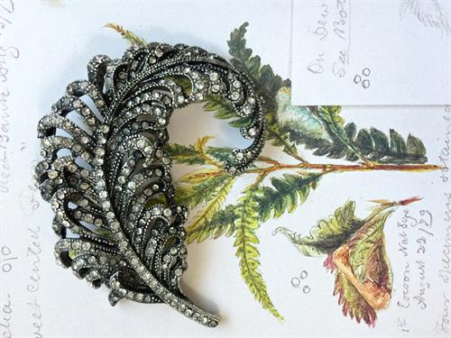 Fern brooch at www.pintamology.com