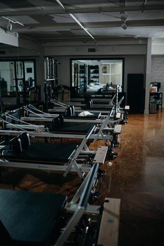 Group Reformer Area with Brand New STOTT Pilates Equipment