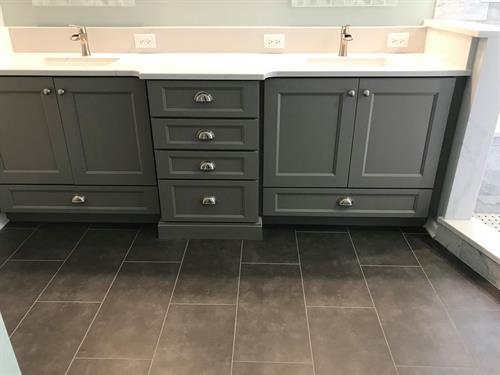 Salem Vanity and Flooring