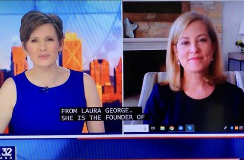 Laura's live segment on Fox 32 Chicago