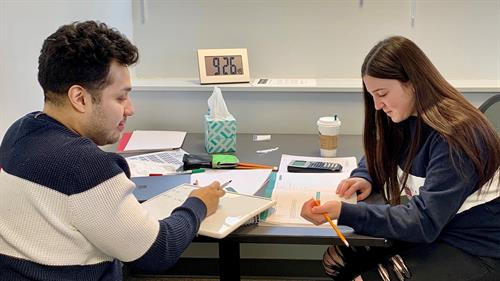 A one-on-one tutoring session