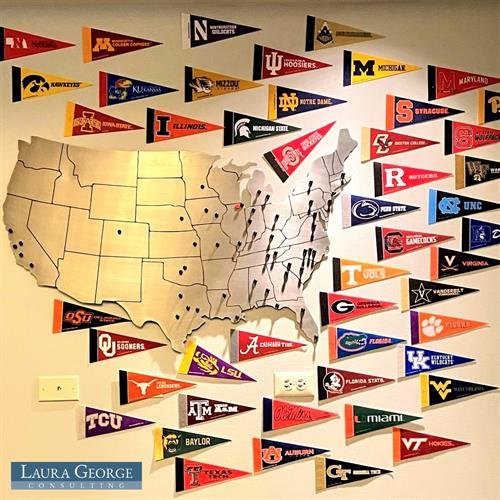 Just a fraction of the many colleges that LGC students attend