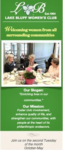 Lake Bluff Women's Club welcomes women from all surrounding communities to join us