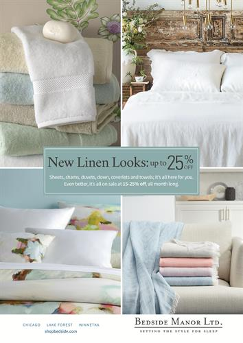 Annual May Linen Sale