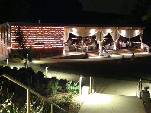 Outdoor, covered pavillion is availble for rental for corporate events and weddings