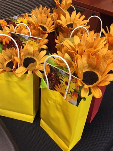 Fall giveaway bags for our care recipients and care givers - we love to have surprises for them.
