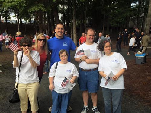 enAble individuals at 9/11 memorial event sponsored by Roswell Rotary
